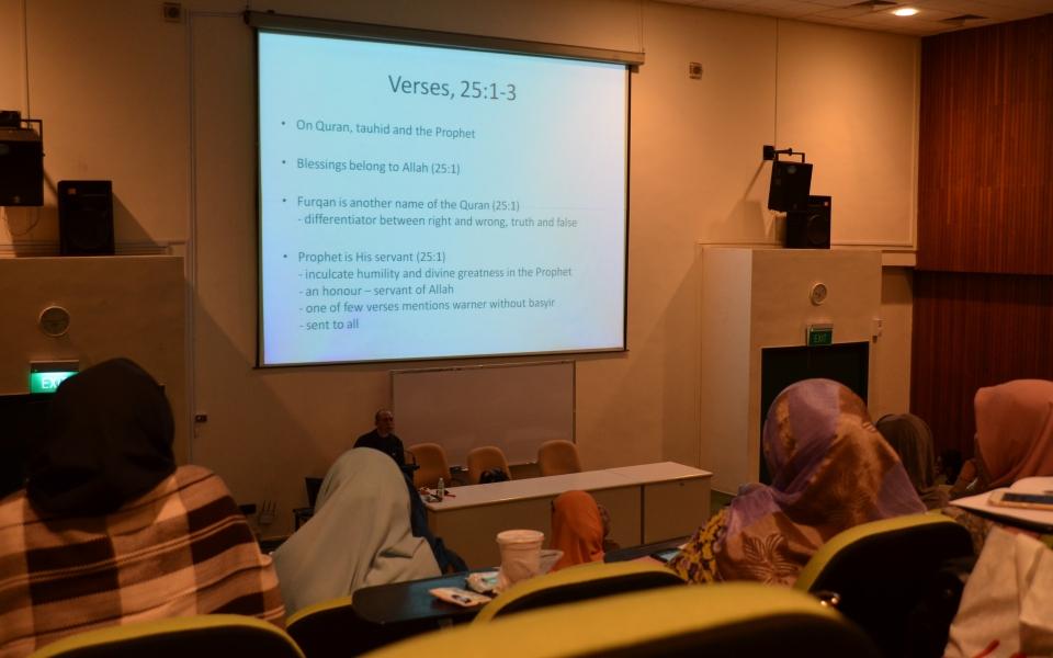 Sesi Siri Tafsir Kontemporari di Madrasah Aljunied anjuran Perdaus