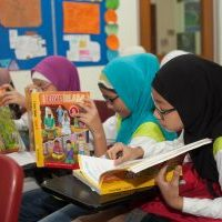 perdaus-Primary-girls in class